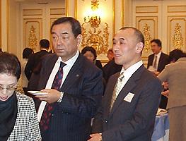 青森県人会 小関副会長と(青森県は、父母先祖のルーツ)